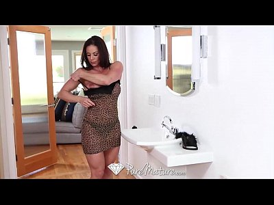 Brunette Cumshot Doggystyle video: HD - PureMature Sexy Kitten Kendra Lust gets pussy pounded