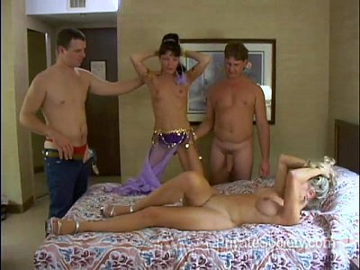 Swingers Blonde Wife video: Four Swingers On A Bed