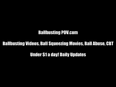 Femdom Fetish Ballbusting video: I will kick your balls right off your body