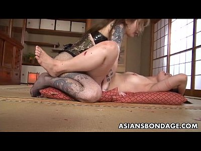 Japanese Bdsm Lesbian video: Rough Asian mistress plows her sweet slave girl