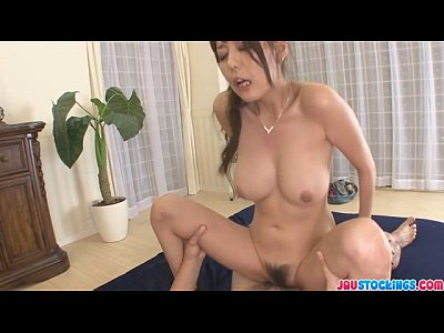 Hardcore Japanese Milf video: Creampied In Both Holes After Akari Asagiris Threesome