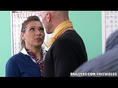 Tits Blowjob xxx: Brazzers - Sexy School girl Callie Calypso takes it up the ass