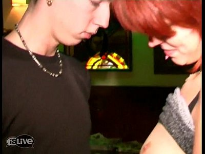 Teen Blowjob Tattoo video: Redhead fucked in a bar