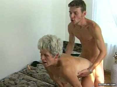 Hairy Hardcore Sex video: Hairy granny pussy filled with younger dick