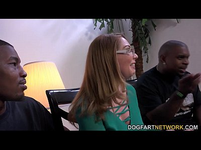 Interracial Pornstar video: MILF babe Kiki Daire Gets Interviewed at DogFart