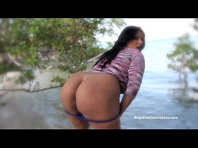 Bbw Beach Bigass video: Bit Titted Angelina Castro Gets Wet Outoors!