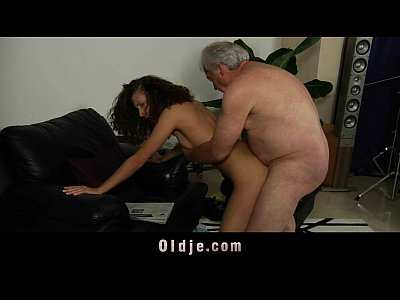 White haired grandpa fucks horny Stephanie