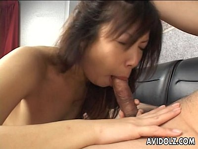 Hardcore Asian Japanese video: Provocative Japanese tart takes in two cocks
