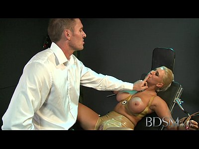 Hardcore Bdsm movie: BDSM XXX Master straps big tits submissive girl to a gyno chair