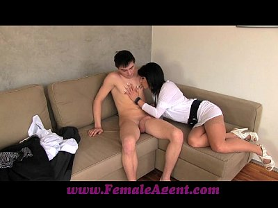 Amateur Pov porno: FemaleAgent MILF casts young nervous stud