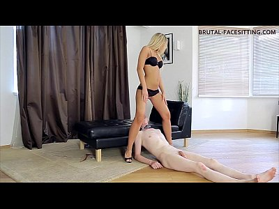Femdom Blonde video: Blonde facesitting