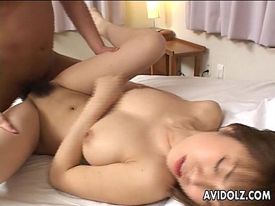 Captivating Japanese slut enjoys fucking with two men