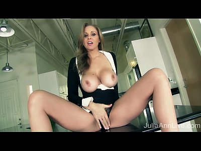 Blonde Blondemilf Busty video: Milf Julia Ann Tells You To Pull Out Your Cock!