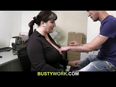 Boss Atwork Bigtitsboss video: Busty hottie gets doggystyled at interview
