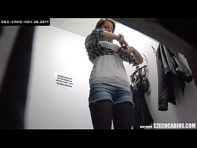 Brunette Cabins Czechav video: Young Girl Fitting Bra in Shopping Mall