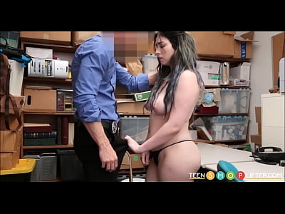 Teen Stepdaughter Caught Shoplifting By Her Dad And Fucked