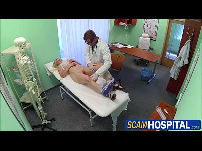 Reality European Doctor video: Blonde patient gets fucked by her doctor in the hot examining table