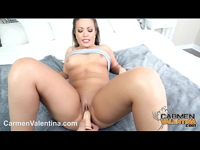 Cumslut Carmen Valentina gets a Halloween Cock and Cum treat!