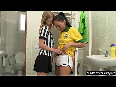 Softcore Sex Teen video: Brazilian teen player fuck referee