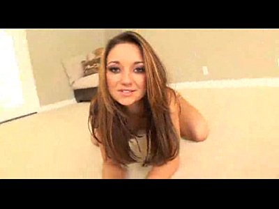 Brunette Gymnast Plays on Floor