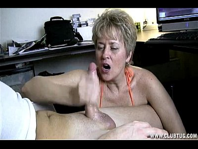 Granny Handjob Handjobs video: Naughty Mature Handjob In Car