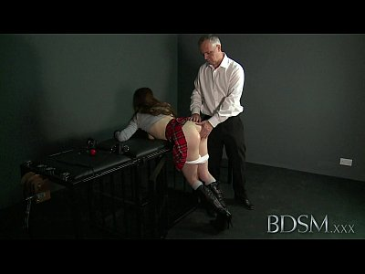 Bdsm Domination Submissive video: BDSM XXX Ball-gagged submissive girls ass plugged and fucked by her Dom