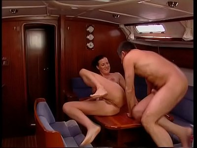 Sex on a boat with a milf with big and nice tits