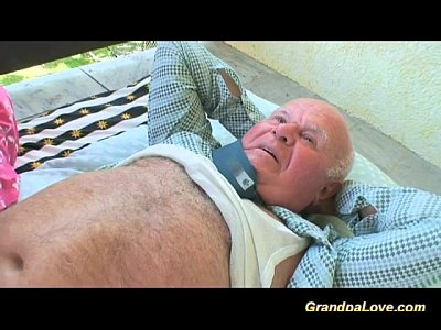 Teen Fuck Grandpa video: lucky day for grandpa