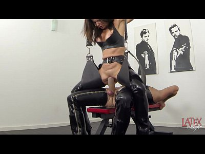 Squirting Latex Milf video: Extreme squirting and pissing in latex
