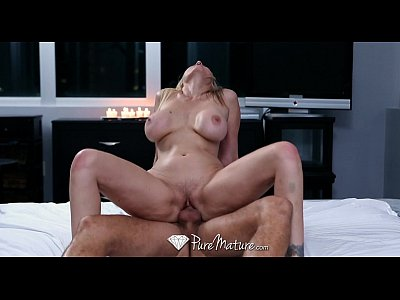 Blonde Blowjob xxx: HD - PureMature - Julia Ann gets her floppy tits slapped around