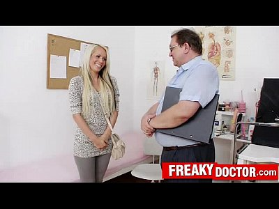 Blonde Clinic Czech video: Awesome blonde Venus Devil cunt doctor scrutiny