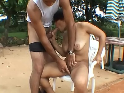 Fucking and sucking the new pool boy
