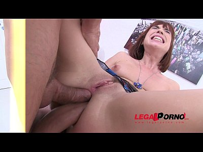 Ass Babe Asshole vid: Tina Hot DAP'ed for the very first time (first double anal) SZ679