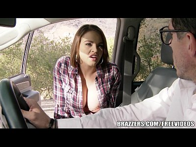 Tits Sex Boobs video: Brazzers - Sexy Hitchhiker Krissy Lynn gets pounded