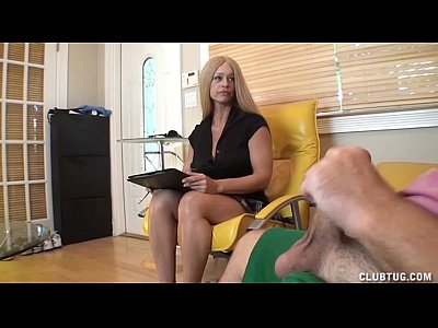 Milf Mature Jerking video: Hot Milf Strokes A Boner