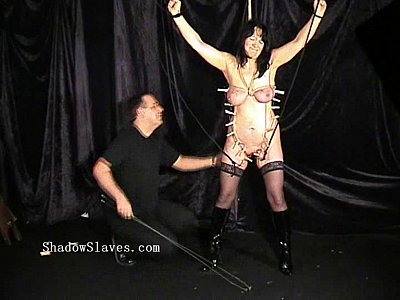 Pegged mature slaveslut tortured tears and hardcore bdsm of old chubby submiss