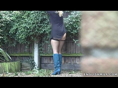 Ass Asses British video: Big ass milf in stockings outdoor upskirt