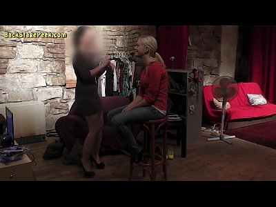 Czech Couple Teen video: Sexy lady in short dress in backstage video