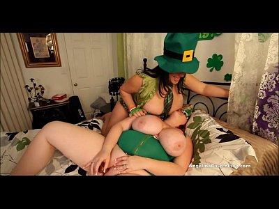 Brunette Threesome Milf video: Angelina Castro St. Patricks day 3way Fuck fest!!!