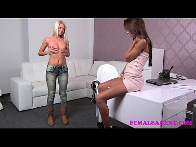 Audition Blonde Blondes video: FemaleAgent Incredible blonde strikes a sexual deal with insatiable agent