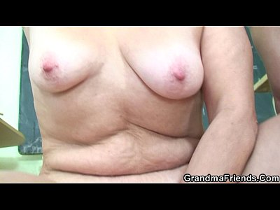 Grandmother Granma Oldlady video: Very old teacher is pounded by two boys