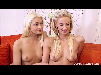 Fingering Teen Blonde video: Mature teacher easily turned two blonde teens into lesbians