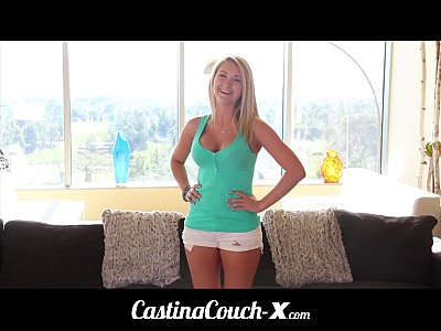 Fucks Casting Bimbo video: Casting Couch-X Blonde Southern bimbo fucks for cash