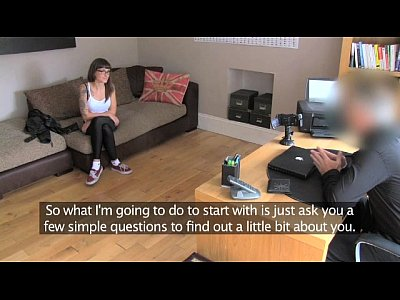 British Pov Office video: FakeAgentUk Creampie filling for slim tattood local waitress