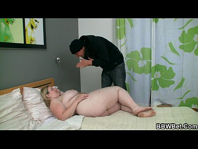 Bbwblowjob Bigass Bigbutt video: Busty fat girl and skinny guy