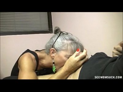 Milf Mature Granny video: Slutty Granny Blowjob