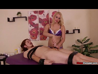 Handjob Jacking Jerking video: Gagged And Teased