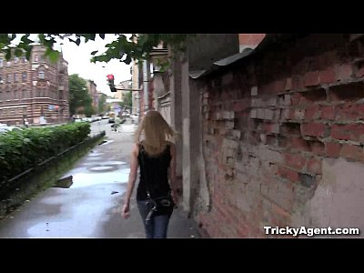 Tricky Agent - A blond student Sonja is looking for some cash!