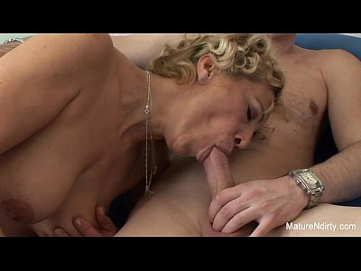 Tits Sex Facial video: Blonde granny gets cum on her tits