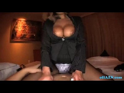 Hot Busty Secreatary Giving Handjob Riding On Guy Cock On The Bed In The Bedroom